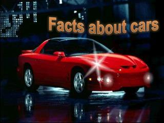 Facts about cars