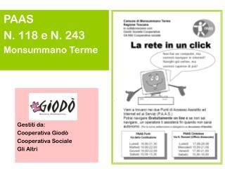 PAAS N. 118 e N. 243  Monsummano Terme
