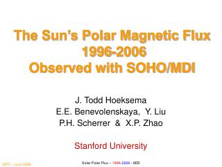 The Sun's Polar Magnetic Flux  1996-2006  Observed with SOHO/MDI