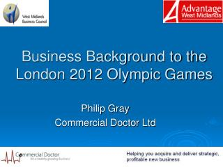 Business Background to the London 2012 Olympic Games