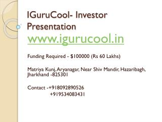 IGuruCool- Investor Presentation