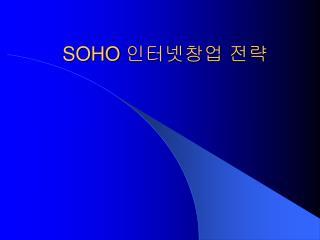 SOHO  인터넷창업 전략
