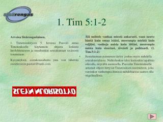 1. Tim 5:1-2