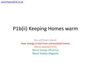 P1b(ii) Keeping Homes warm