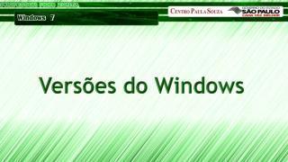 Versões do Windows