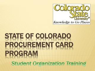 State of Colorado procurement card program