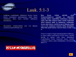 Luuk. 5:1-3