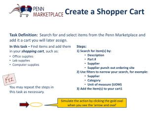 Create a Shopper Cart
