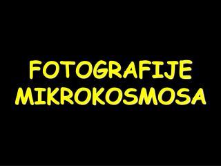 FOTOGRAFIJE MIKROKOSMOSA