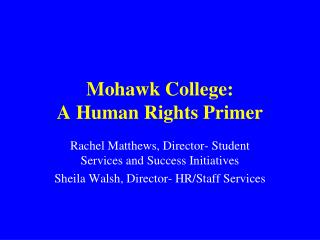 Mohawk College: A Human Rights Primer