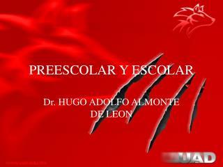 PREESCOLAR Y ESCOLAR