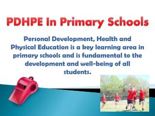 PDHPE In Primary Schools