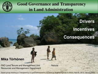 Good Governance :