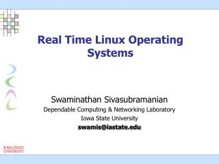 Real Time Linux Operating Systems