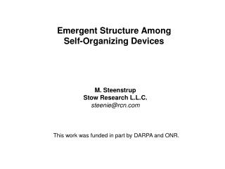 Emergent Structure Among Self-Organizing Devices