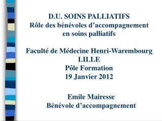 Emile Mairesse Bénévole d'accompagnement