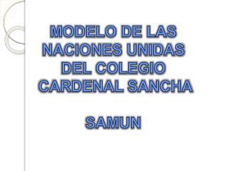 MODELO DE LAS NACIONES UNIDAS DEL COLEGIO  CARDENAL SANCHA SAMUN