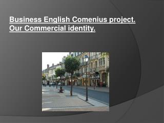 Business English Comenius  project . Our Commercial  identity .