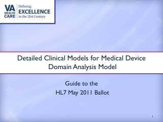 Detailed Clinical Models for Medical Device  Domain Analysis Model