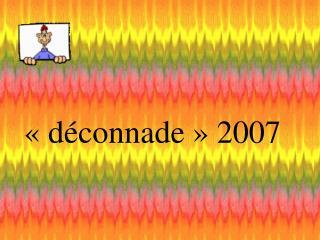 ��d�connade�� 2007