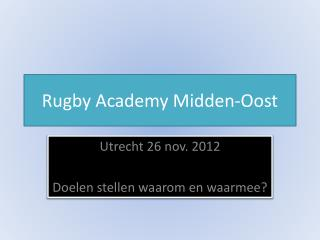 Rugby  Academy Midden-Oost