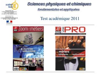 Test  acad�mique  2011