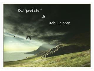 """Dal """"profeta """""""