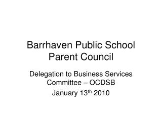 Barrhaven Public School Parent Council