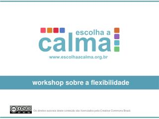 workshop sobre a flexibilidade
