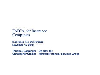 FATCA  for Insurance Companies