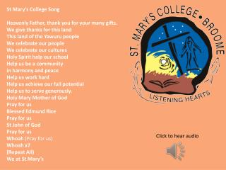 St Mary's College Song