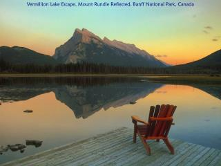 Vermillion Lake Escape, Mount Rundle Reflected, Banff National Park, Canada
