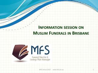 Information session on Muslim Funerals in Brisbane