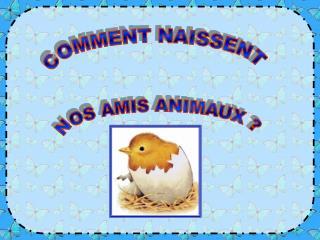 COMMENT NAISSENT