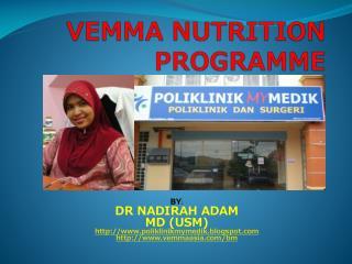 VEMMA NUTRITION PROGRAMME