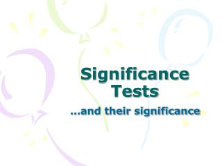 Significance Tests