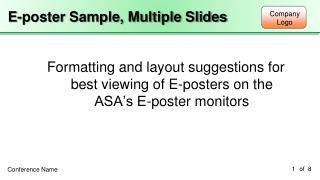 E-poster Sample, Multiple Slides