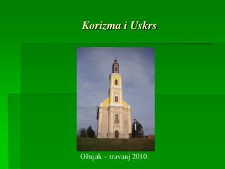 Korizma i Uskrs