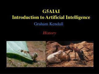 G5AIAI Introduction to Artificial Intelligence
