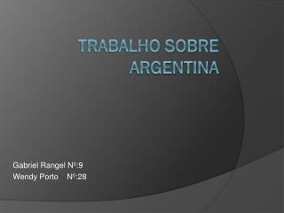 Trabalho sobre Argentina