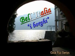 "Bel l 'It alia ""i borghi"""