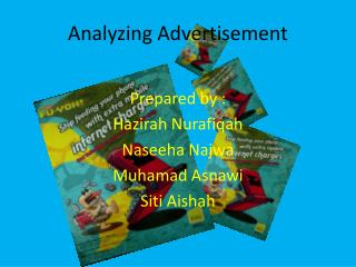 Analyzing Advertisement