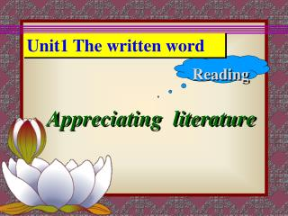 Unit1 The written word