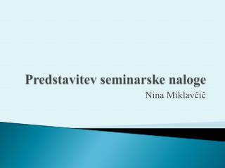 Nina Miklavčič