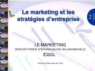 Le marketing et les stratégies d'entreprise