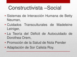 Constructivista �Social