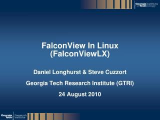 FalconView  In Linux ( FalconViewLX )
