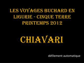 Les voyages Buchard en Ligurie - Cinque Terre Printemps 2012
