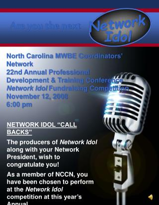 "NETWORK IDOL ""CALL BACKS"""
