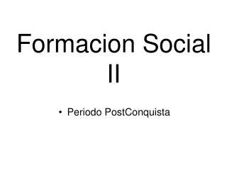 Formacion Social II